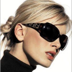 Sale!💋Auth.FENDI Black Zucca FF sunglasses frames